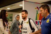 """شاهد ميسي يصل الرياض.. و""""آل الشيخ"""" يعلّق بـ"""" 4 كلمات و3 إيموشنات"""""""