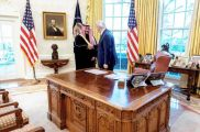 نائب وزير الدفاع يلتقي ترامب ويسلمه رسالة من ولي العهد (صور)