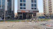 شاهد.. انفجار في أحد المطاعم الشهيرة بأبوظبي يسفر عن وقوع إصابات